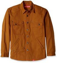 Red Kap Men's 100% Canvas Cotton Shirt Jac with MIMIX Flex Panels and Reinforced Shoulders and Elbows