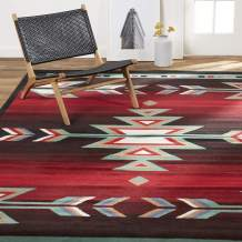 "Home Dynamix Sagrada Southwest Area Rug , 7'8"" x 10'7"" inch , Black/Red/Ivory"