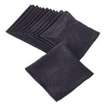 "SARO LIFESTYLE LN817.BK22S Crinkle Collection Crushed Design Napkin (Set Of 12), 22"", Black"