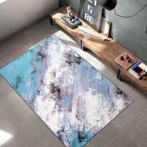 Woven Trends Contemporary and Modern Area Rug, 047 Galaxy Abstract, Extremely Durable and Stain Resistant, Stylish with Non-Skid Rubber Backing (Aqua, 2' x 7' Runner Rug)