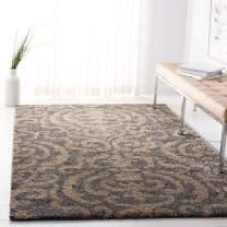 "Safavieh Florida Shag Collection SG462-8013 Grey and Beige Area Rug (8'6"" x 12')"