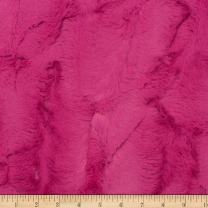 Shannon Fabrics Shannon Minky Luxe Cuddle Hide Carnation Fabric by the Yard