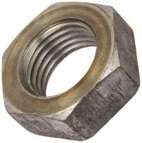 "Steel Hex Jam Nut, Plain Finish, Grade 2, ASME B18.2.2, 1-3/4""-5 Thread Size, 2-5/8"" Width Across Flats, 31/32"" Thick"