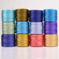 The Beadsmith S-Lon Cord Multipack with 12 Spools (Sea and Sand Mix)