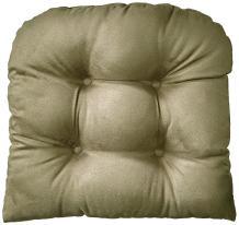 "Klear Vu Gripper Non-Slip Obsession Tufted Universal Chairpad Seat Cushion, 15"" x 15"", Sage"