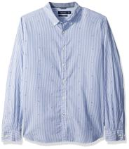 Nautica Men's Long Sleeve Print Button Down Shirt