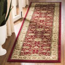 """Safavieh Lyndhurst Collection LNH212F Traditional Oriental Non-Shedding Stain Resistant Living Room Bedroom Runner, 2'3"""" x 16' , Red / Ivory"""