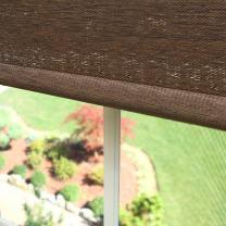 "Best Home Fashion Premium Single Wood Look Roller Window Shade - Chocolate - 27"" W x 64"" L"