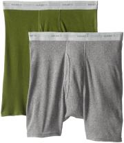 Hanes Men's 2-Pack Exposed Waistband Boxer Briefs