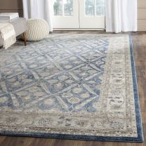 "Safavieh Sofia Collection SOF378C Vintage Oriental Area Rug, 4' x 5' 7"", Blue/Beige"