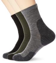 Kold Feet Mens Merino Wool Hiking socks Crew Quarter for spring summerTrekking Performance Outdoor 3 Pairs