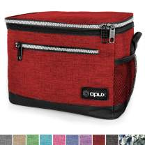 OPUX Premium Lunch Box, Insulated Lunch Bag for Men Women Adult   Durable School Lunch Pail for Boys, Girls, Kids   Soft Leakproof Medium Lunch Cooler Tote for Work Office   Fits 8 Cans (H Red)