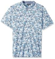 Nautica Men's Big and Tall Short Sleeve Pineapple Print Button Down Shirt