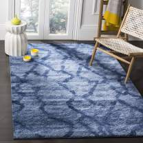 Safavieh Retro Collection RET2144-6570 Modern Abstract Blue and Dark Blue Area Rug (4' x 6')
