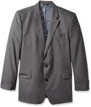 J.M. Haggar Men's Sharkskin Premium Classic-Fit Stretch Suit Separate Coat, Medium Grey Blazer, 42 Short