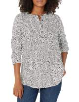Amazon Essentials Women's Long-Sleeve Woven Blouse