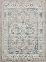Unique Loom Paris Collection Pastel Tones Traditional Distressed Dark Gray Area Rug (9' 0 x 12' 0)