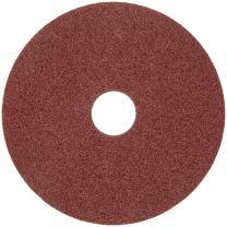 """Merit Resin Abrasive Disc, Fiber Backing, Aluminum Oxide, 7/8"""" Arbor, 5"""" Diameter, Grit 80 (Box of 25)"""