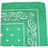Mechaly Paisley 100% Polyester Unisex Bandanas - 50 Pack - Bulk Wholesale