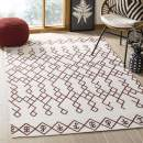 Safavieh Cedar Brook Collection CDR501D Ivory and Rust Area Rug, 4' x 6'