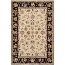 Safavieh Persian Court Collection PC106E Handmade Beige and Black Wool Area Rug (4' x 6')