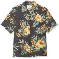 Amazon Brand - 28 Palms Men's Relaxed-Fit Silk/Linen Tropical Hawaiian Shirt