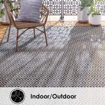 "Home Dynamix Tripoli Lydia Indoor/Outdoor Area Rug  5'3""x7'3"", Modern Dark Gray"