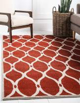 Unique Loom Trellis Collection Geometric Modern Terracotta Area Rug (3' 3 x 5' 3)