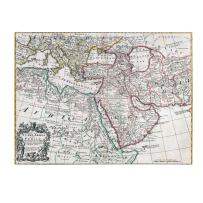 Map of Turkey Arabia and Persia, 35 by 47-Inch Canvas Wall Art