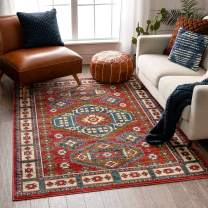 "Well Woven Perry Crimson Southwestern Medallion Area Rug 4x6 (3'11"" x 5'3"")"
