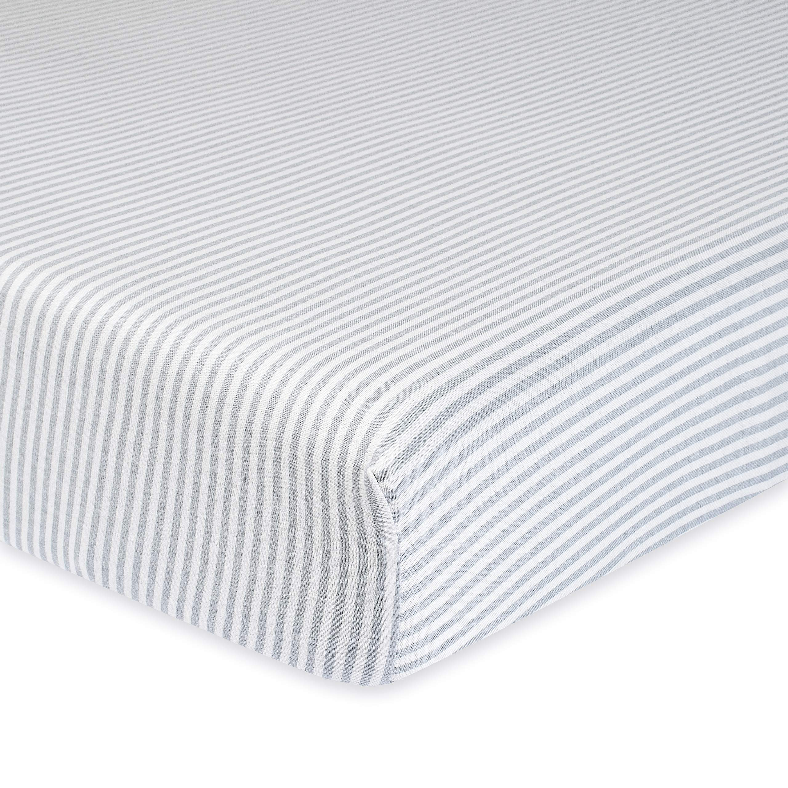 Gerber Organic Sheet, Grey Stripe, One Size