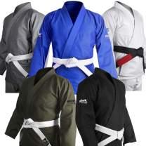 Brazilian Jiu Jitsu Gi BJJ Gi for Men & Women Grappling gi Uniform Kimonos Ultra Light, Preshrunk, with White Belt