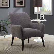 Pulaski Mid-Century Modern London Fog Grey Upholstered Accent Chair
