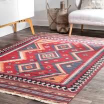 nuLOOM Tassel Lucile Wool Rug, 4' x 6', Burgundy