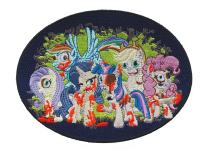 Cartoon Ponies As Zombies Parody Colorful Iron On Patch Applique
