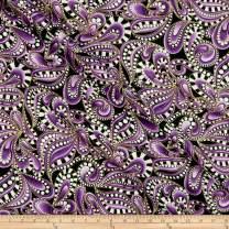 Benartex Cat-I-tude Christmas Paisley Tonal Swirl Purple, Fabric by the Yard