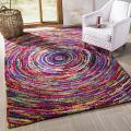 Safavieh Nantucket Collection NAN315A Handmade Abstract Multicolored Cotton Area Rug (8' x 10')