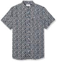Original Penguin Men's Big and Tall Short Sleeve Printed Button Down Shirt