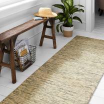 "Amazon Brand – Stone & Beam Contemporary Speckle Wool Runner Rug, 2' 3"" x 7' 6"", Seafoam"