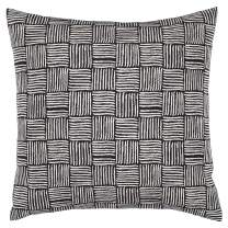 """Amazon Brand – Stone & Beam Modern Reversible Cross-Hatch Stitched Throw Pillow, 17"""" x 17"""" , Black and White"""
