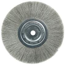 """Weiler 01775 8"""" Narrow Face Crimped Wire Wheel.006"""" Stainless Steel Fill, 5/8"""" Arbor Hole, Made in The USA (Pack of 2)"""