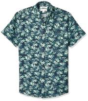 Amazon Brand - Goodthreads Men's Standard-Fit Short-Sleeve Linen and Cotton Blend Shirt