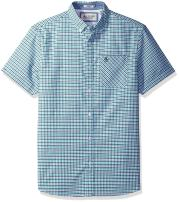 Original Penguin Men's Short Sleeve Tri Color Oxford Gingham Core