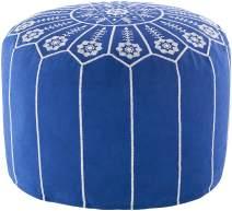 """Artistic Weavers Fauske Pouf, 20"""" x 20"""" x 12"""", Blue"""