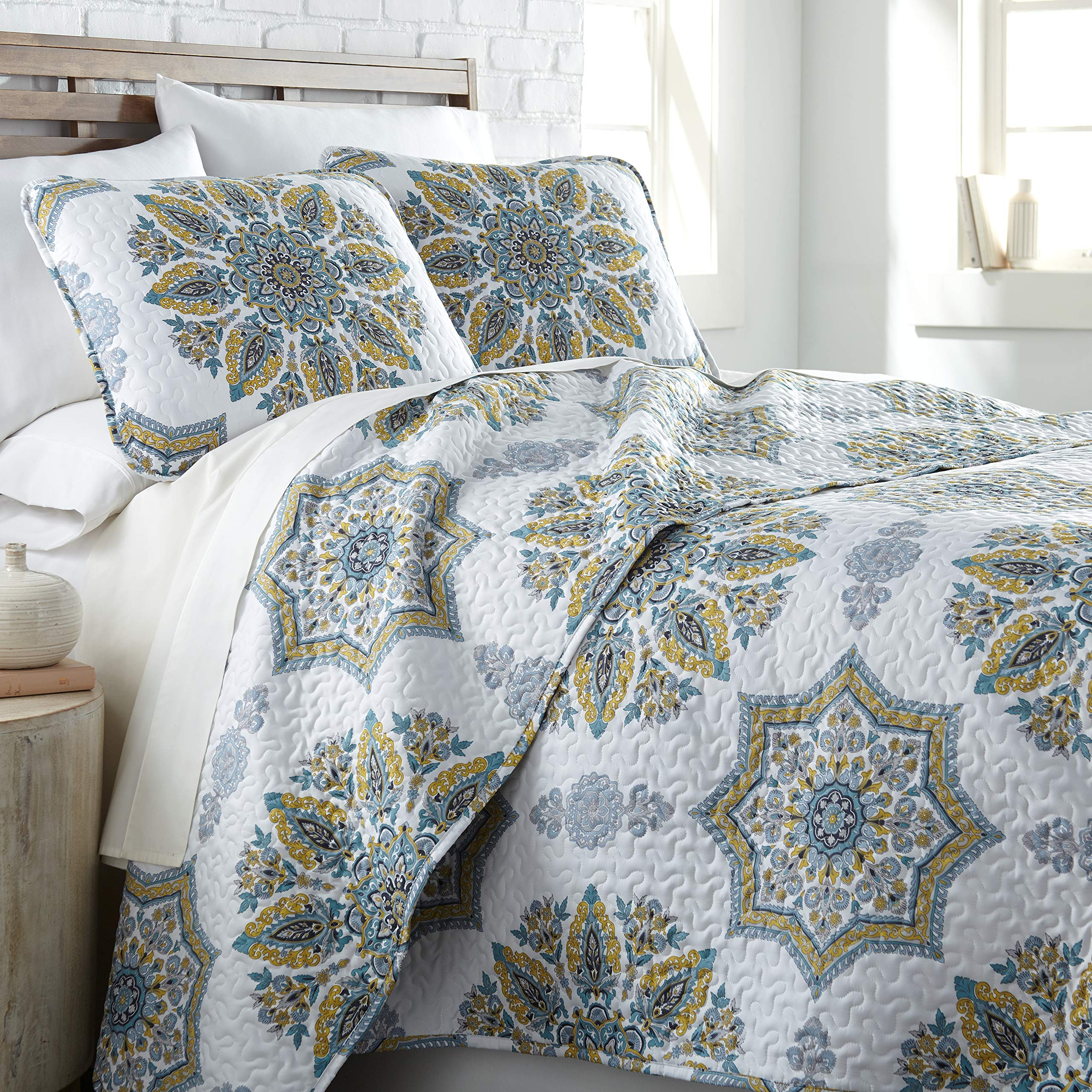 Southshore Fine Living, Inc. The Infinity Collection Quilt 2 Piece Set, Twin/Twin XL, Aqua