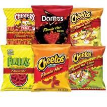 Frito-Lay Flaming' Hot Mix Variety Pack, Cheetos Cheese Snacks, Funyuns and More, 40 Count