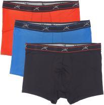 """Terramar Men's Silkskins 3"""" Trunk Briefs Underwear with Pouch (Pack of 3)"""