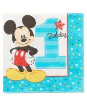 Mickey's Fun To Be One Luncheon Napkins,16 - 2 ply, Party Supplies