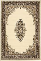 Unique Loom Reza Collection Classic  Traditional Ivory Area Rug (4' 0 x 6' 0)
