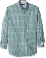 Nautica Men's Big and Tall Long Sleeve Check Plaid Button Down Shirt